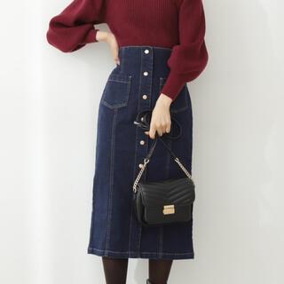 プロポーションボディドレッシング(PROPORTION BODY DRESSING)のproportion body dressing フロントデニム釦タイトスカート(ロングスカート)