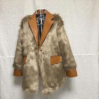 ロキエ(Lochie)のselect  vintage フェイク ファー レザー コート(毛皮/ファーコート)