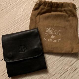 イルビゾンテ(IL BISONTE)の新品未使用!イルビゾンテ 折財布  ブラック (専用袋付き)(折り財布)