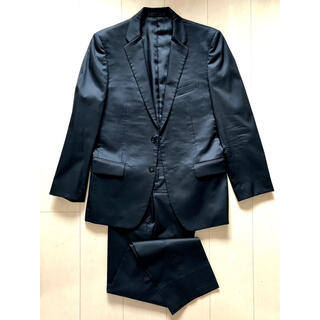 コムサイズム(COMME CA ISM)のコムサ BG セットアップスーツ ブラック シャドウストライプ(セットアップ)