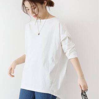 スピックアンドスパン(Spick and Span)のスピックアンドスパントルファンコットンセットバックTシャツ(Tシャツ(長袖/七分))