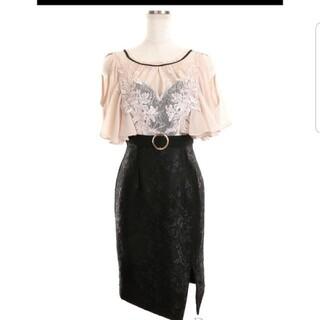 ローブ(ROBE)の最終値下げ袖シフォン高級ドレス(ミニドレス)