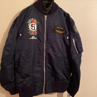 サカイ(sacai)の20AW sacai × undercover MA-1 ネイビー サイズ3(フライトジャケット)