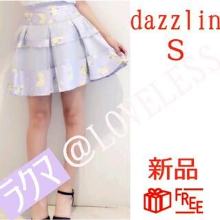dazzlin - ダズリン 花柄 ミニスカート Sサイズ ブルー