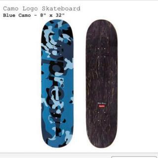 シュプリーム(Supreme)のCamo Logo Skateboard Blue 8 x 32 デッキ(スケートボード)