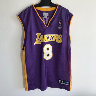 リーボック(Reebok)のNBA レイカーズ コービーブライアント  ユニフォーム リーボック 紫(バスケットボール)