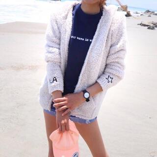 ジェラートピケ(gelato pique)の秋のコーデ☆LUSSO SURF 刺繍ボアパーカー Sサイズ☆ベアフット(パーカー)