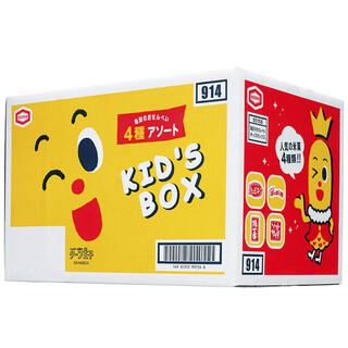 カメダセイカ(亀田製菓)の亀田製菓亀田のおせんべい4種アソートキッズボックス(菓子/デザート)