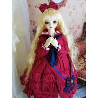 【美品】SDサイズ セーラードレス(赤)(人形)