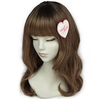 アンジェリックプリティー(Angelic Pretty)のLove Heart ラメクリップ シロ×ピンク(バレッタ/ヘアクリップ)