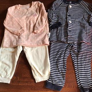 ムジルシリョウヒン(MUJI (無印良品))の無印とユニクロのパジャマセット☆ 90cm(パジャマ)