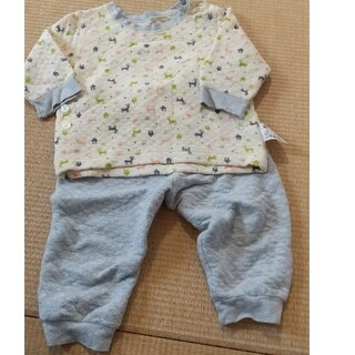 ユニクロ(UNIQLO)のユニクロ 冬用のパジャマ 80サイズ(パジャマ)