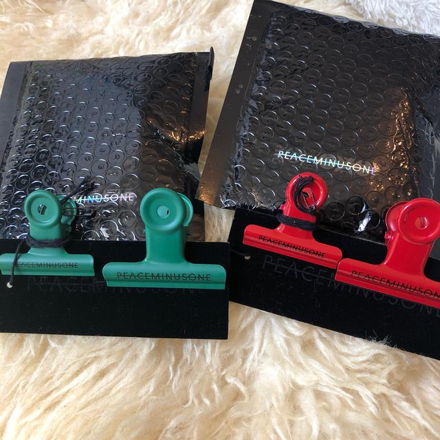 PEACEMINUSONE(ピースマイナスワン)のPMO PACK #1 SET (GREEN&RED) クリップ メンズのファッション小物(その他)の商品写真