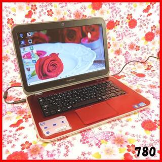 デル(DELL)のメタルレッド♪ノートパソコン本体♪新品SSD♪office♪Windows10(ノートPC)