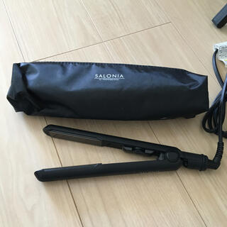 SALONIA サロニア ストレートアイロン ブラック 黒(ヘアアイロン)