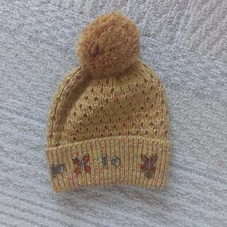 アナスイミニ(ANNA SUI mini)の美品アナスイミニ☆ニット帽子ベージュ系(帽子)
