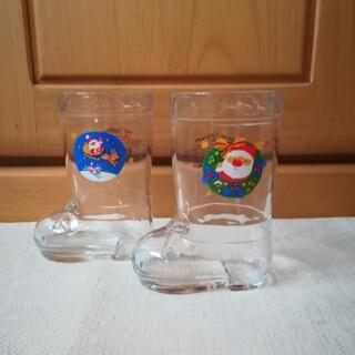 ケンタッキー グラス 2個セット ブーツ型 ガラス 昭和レトロ 1989 非売品(グラス/カップ)