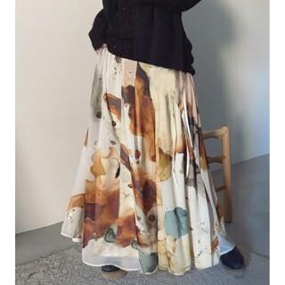 アメリヴィンテージ(Ameri VINTAGE)の新品タグ付きはAmeri vintage インクアートスカート(ロングスカート)