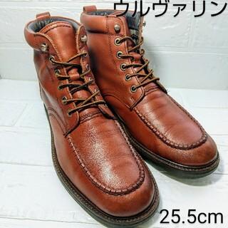 ウルヴァリン(WOLVERINE)のWOLVERINE ウルヴァリン モックトウワークブーツ 茶色 US7.5(ブーツ)