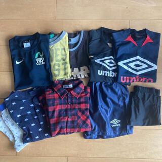 アンブロ(UMBRO)の男の子 子供服 10枚セット サイズ130 〜140 サッカー練習着他(ウェア)