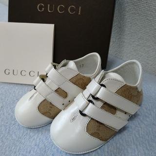 グッチ(Gucci)の美品GUCCI グッチ ベビーシューズ ●保管期間有 靴スニーカー箱有サイズ17(スニーカー)