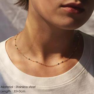 アリシアスタン(ALEXIA STAM)のPetal choker necklace ペタル チョーカーネックレス(ネックレス)