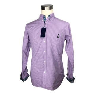 エルメス(Hermes)のサイコバニー メンズシャツ 長袖 コットン ブルー系 チェック(シャツ)
