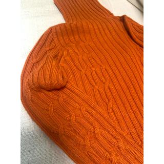 ルシェルブルー(LE CIEL BLEU)のオレンジ タートルニット(ニット/セーター)