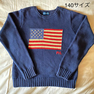 ダブルアールエル(RRL)のラルフローレン 星条旗ニット セーター 140(Tシャツ/カットソー)
