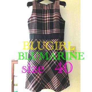 ブルマリン(Blumarine)のBLUGIRL BLUMARINE jamber skirt(ひざ丈ワンピース)