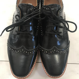 ドゥロワー(Drawer)のユナイテッドアローズ ウイングチップシューズ 厚底 37.5(ローファー/革靴)