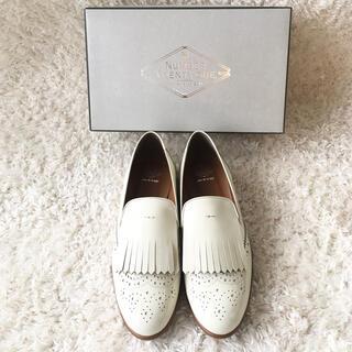 イエナ(IENA)の新品●ナンバートゥエンティーワン ローファー 白(ローファー/革靴)