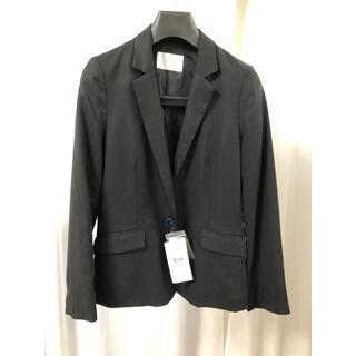 ヴィス(ViS)の【新品未使用】黒スーツ ジャケット M オフィス VIS(テーラードジャケット)