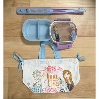 アナトユキノジョオウ(アナと雪の女王)のアナと雪の女王 お弁当箱&お箸&お弁当袋 3点セット(弁当用品)