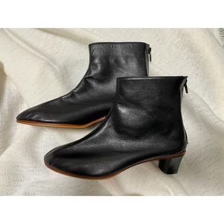 トゥモローランド(TOMORROWLAND)のMARTINIANO マルティニアーノ ショートブーツ ブラック 38(ブーツ)