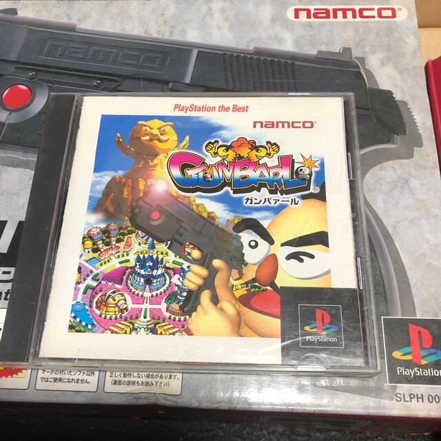 PlayStation(プレイステーション)のガンバレットシリーズとガンコン2セットPS用  エンタメ/ホビーのゲームソフト/ゲーム機本体(家庭用ゲームソフト)の商品写真