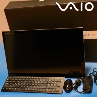 ソニー(SONY)の【送料込・美品】VAIO Tap 21 SVT2122SBJ(デスクトップ型PC)