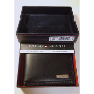 トミーヒルフィガー(TOMMY HILFIGER)のTOMMY HILFIGER メンズ 財布 ブラック(折り財布)
