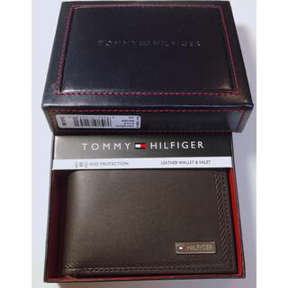 トミーヒルフィガー(TOMMY HILFIGER)のトミーフィルヒガー メンズ 財布 ブラウン(折り財布)