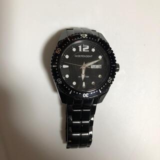 インディペンデント(INDEPENDENT)のインディペンデント 時計 腕時計 independent 中古 黒(腕時計)