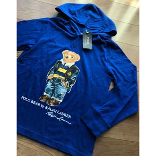 ポロラルフローレン(POLO RALPH LAUREN)のポロベア150cm青フード付きロンT(Tシャツ/カットソー)