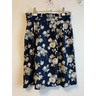 ファビュラスアンジェラ(Fabulous Angela)の日本製 花柄タイトスカート(ひざ丈スカート)