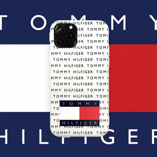トミーヒルフィガー(TOMMY HILFIGER)のトミーフィルフィガー  白  iPhoneケース  他のサイズもあります(iPhoneケース)