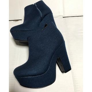 ◆新品保管品◆デニムショートブーツ◆(ブーティ)