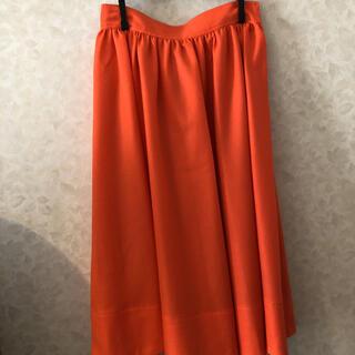 ロペ(ROPE)の【人気‼️】【新品】オレンジ♡フレアスカート (ロングスカート)