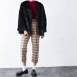 ウィゴー(WEGO)のファーコート ブラック(毛皮/ファーコート)