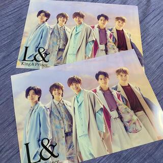 ジャニーズ(Johnny's)のL& キンプリ King&Prince クリアポスター 2枚セット(ミュージシャン)