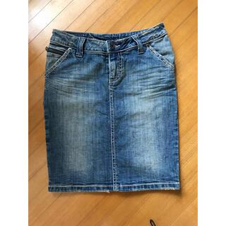 セシルマクビー(CECIL McBEE)のデニムタイトスカート デニムスカート(ひざ丈スカート)