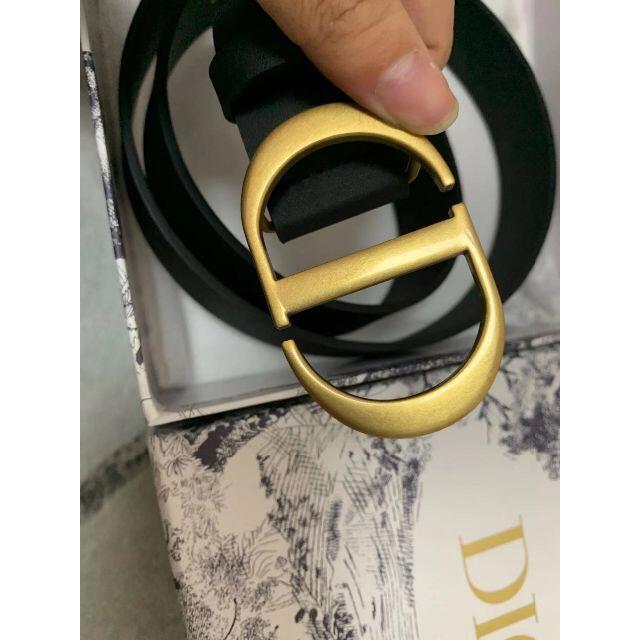 """Dior(ディオール)のDIORカーフスキン """"30 Montaigne"""" ベルト レディースのファッション小物(ベルト)の商品写真"""