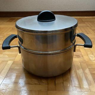 ムジルシリョウヒン(MUJI (無印良品))の値下げしました!【無印良品】ステンレス三層鋼両手鍋深型 せいろ・蓋つき(鍋/フライパン)